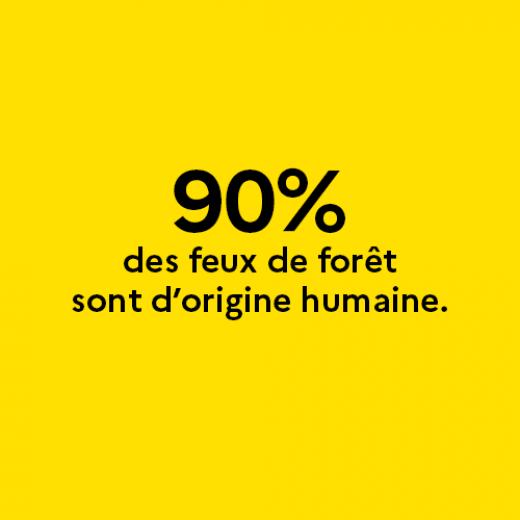 90% des feux de forêt sont d'origine humaine.