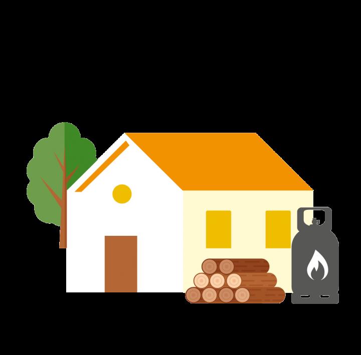 Pas de combustible contre la maison (fuel, bois, butane, etc).