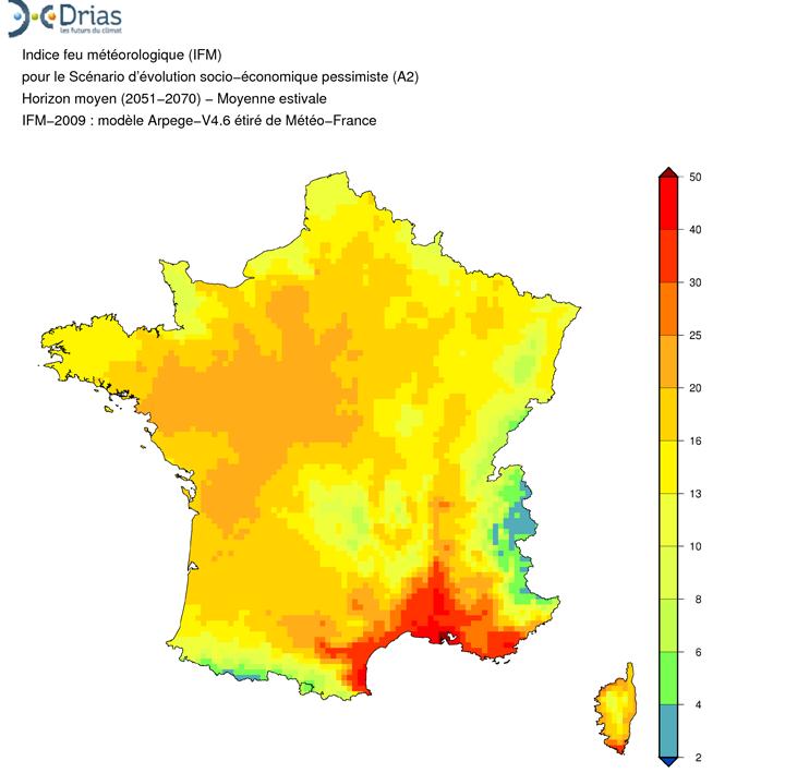 Les départements les plus touchés par les feux sont dans le sud de la France mais le changement climatique pourrait accroître le risque pour de nouvelles zones comme le nord-ouest de la France.