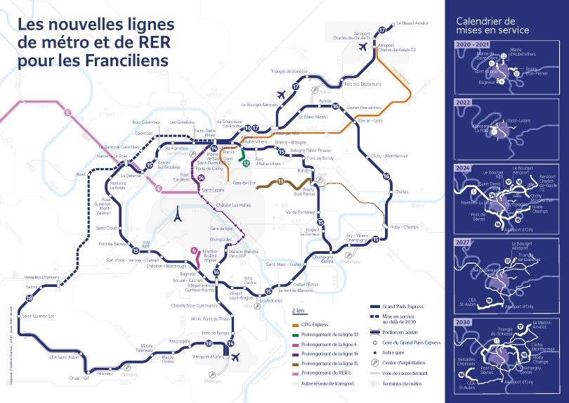 Carte du projet Grand Paris Express